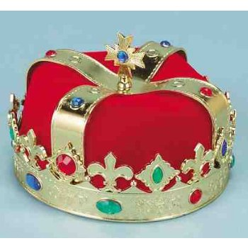 Cheap Plastic Crowns (HAT-KING CROWN PLASTIC)