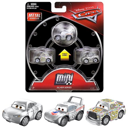Silver Series Mini Racers Diecast 3-Pack Cars with Silver Natalie Certain 1957 World Series Mini