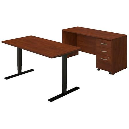 Bush Series C Elite 60W Height Adjustable Desk Office Suite in -