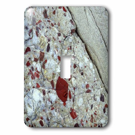 Pudding Rock (3dRose Pudding stone, jasper quartz, rock mineral - US23 BJA0030 - Jaynes Gallery, 2 Plug Outlet)