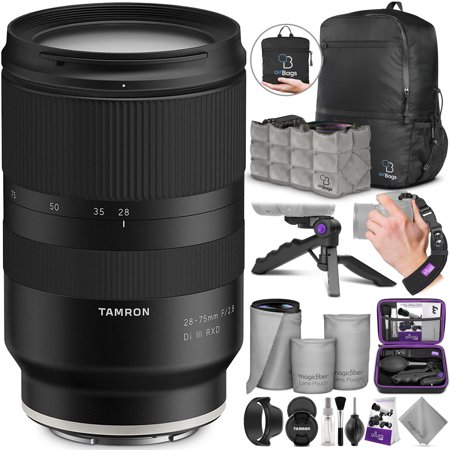 Tamron 28-75mm f/2.8 Di III RXD Lens for SONY E Mount Cameras w/ Advanced Photo and Travel Bundle (Tamron 6 Year Limited USA