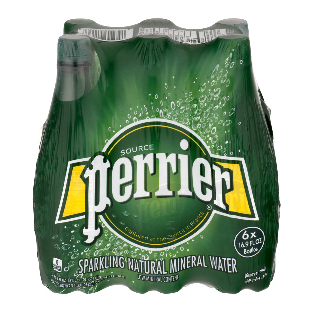 Perrier Sparkling Natural Mineral Water Bottles 6 PK, 16.9 FL OZ by Nestle Waters North America Inc.