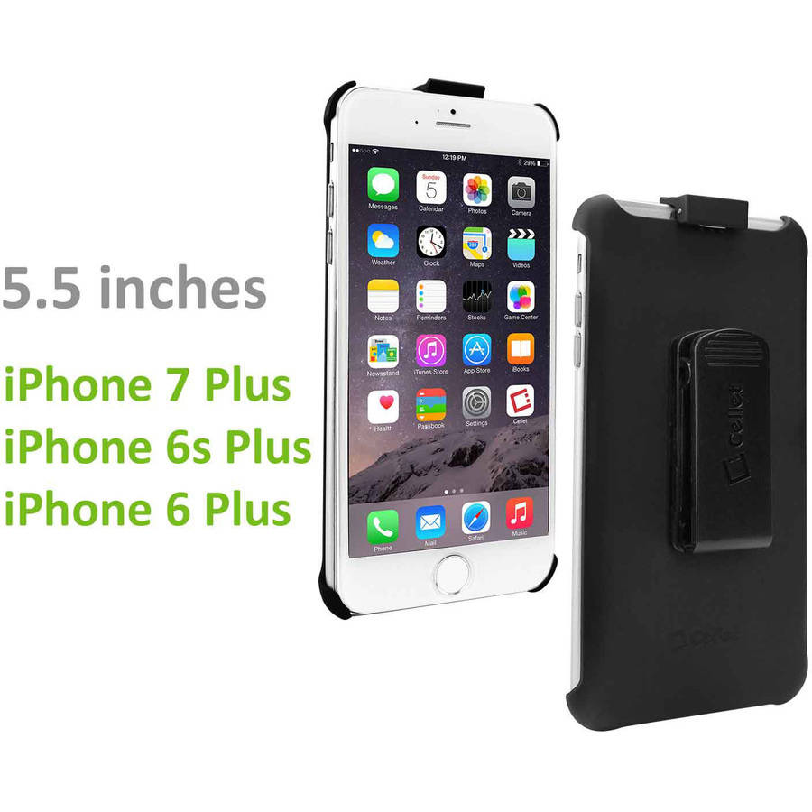 Cellet Rubberized FORCE Holster for Apple iPhone 7 Plus/6S Plus/6 Plus