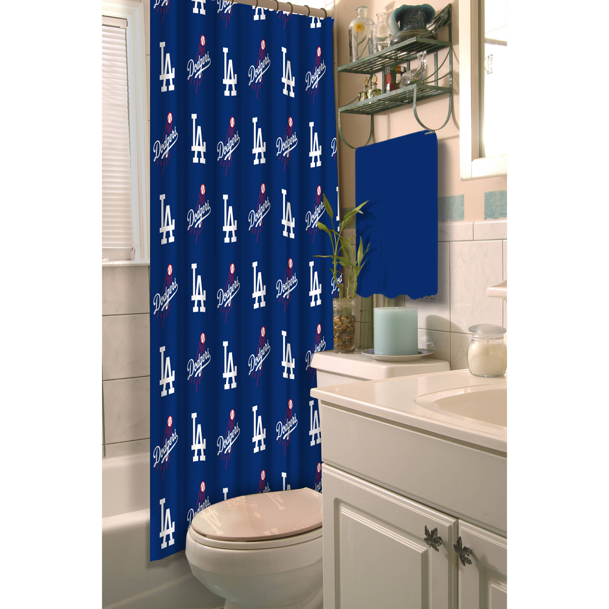"MLB Los Angeles Dodgers 72""x72"" Shower Curtain"