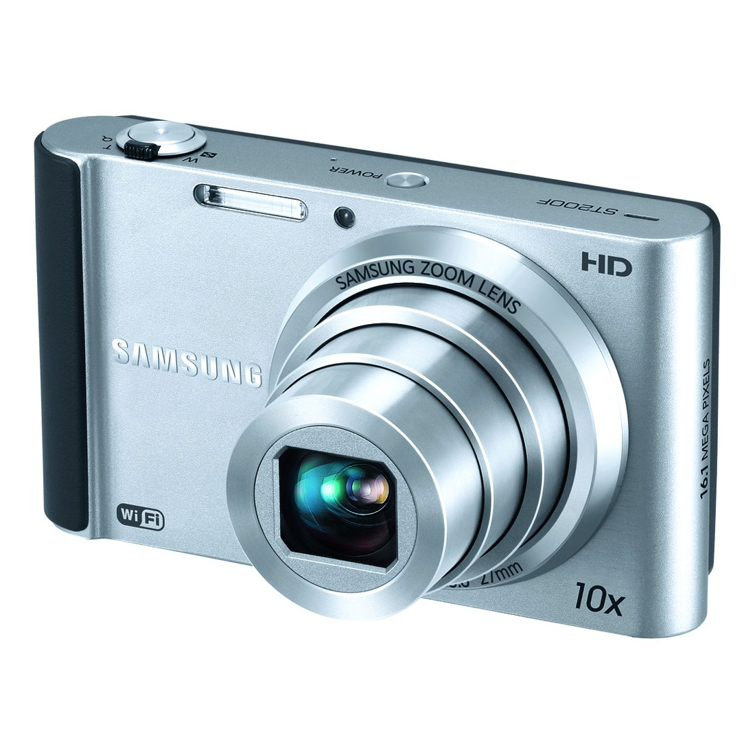"Samsung ST200F Silver 16MP 10x Ultra-Zoom SMART Digital Camera, 3.0"" LCD Display, WiFi Connectivity"