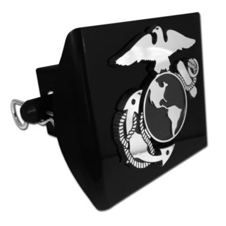 US Marine Corps Insignia Trailer Hitch Cover with Pin Included (Officially Licensed)