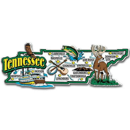 - Tennessee Jumbo State Map Fridge Magnet