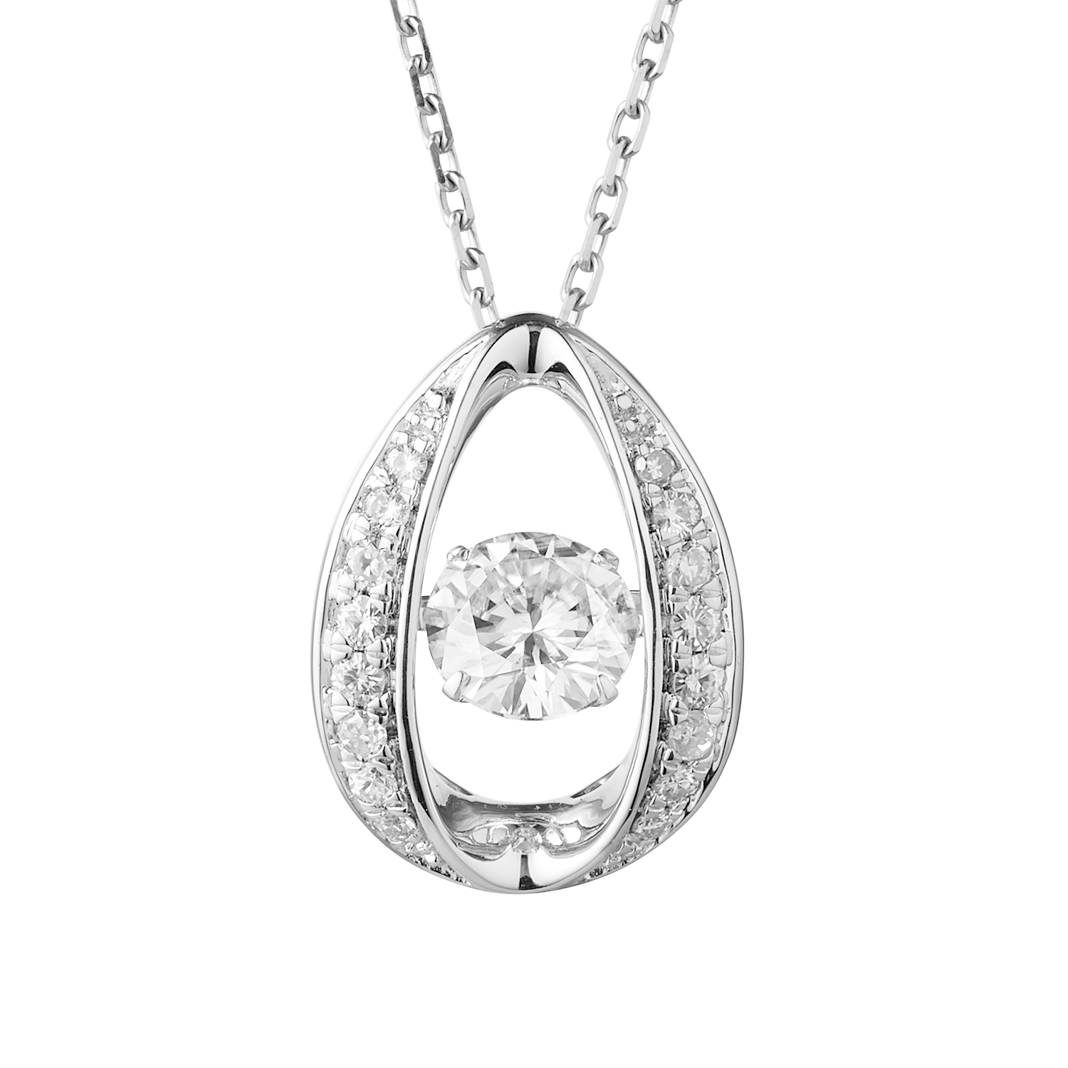 product necklace forever round moissanite diamond gold drop moissanitenecklace one halo white