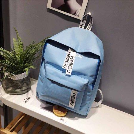 - AkoaDa Women Lightweight School Shoulder Bag ,printed Hello Letter Backpack Fashion Big Zip Double Back Bag