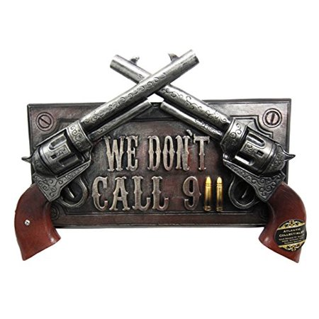 No Warning For Trespassers Wild West Dual Six Shooter Guns With Bullets Wall Art Sign Plaque Decor 3D - Wild West Decorating Ideas