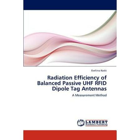 Radiation Efficiency of Balanced Passive UHF Rfid Dipole Tag