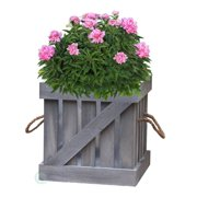Distressed Wood Crate Planter