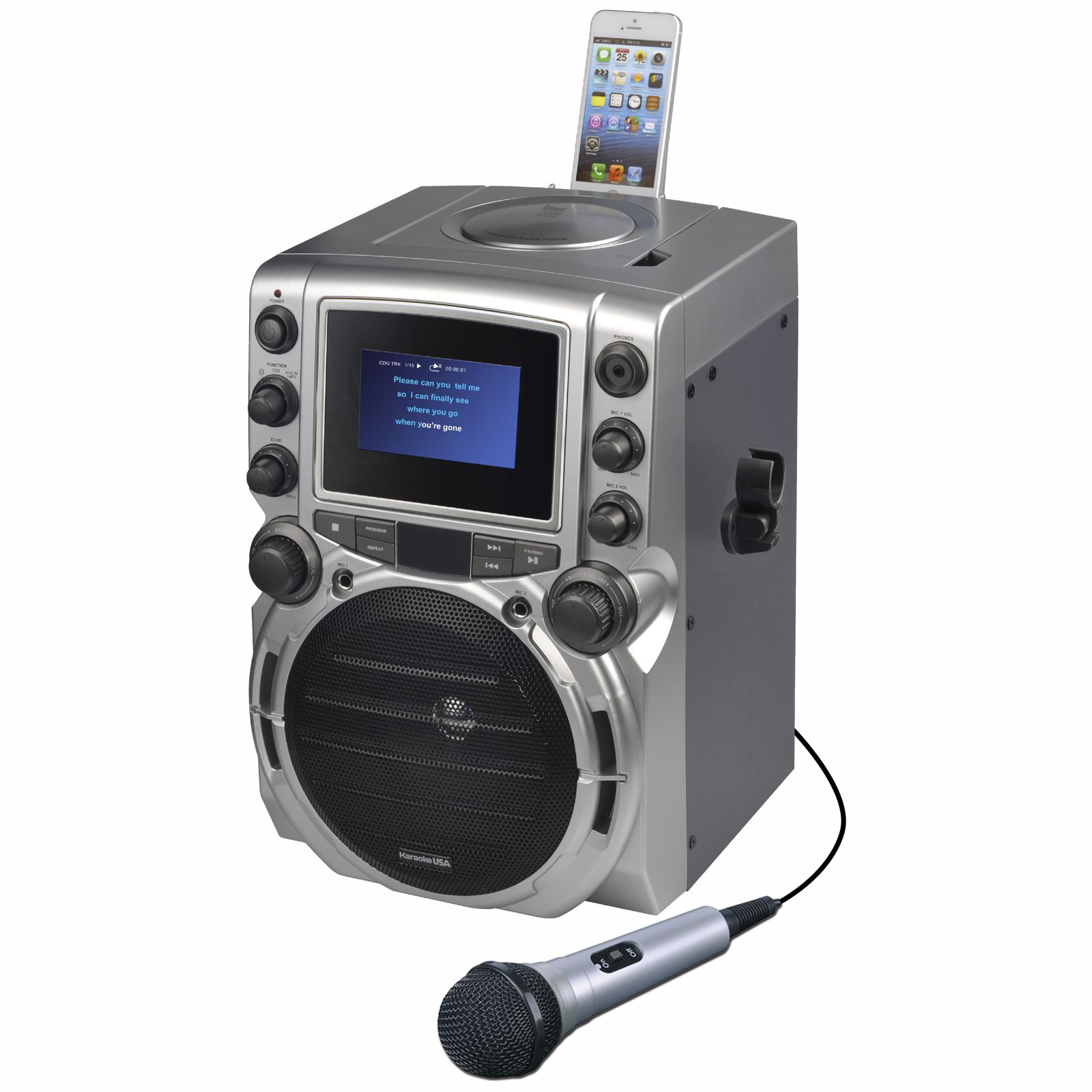 """CDG Karaoke Machine with 4.3"""" Color TFT Screen with Bluetooth by DOK"""