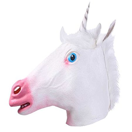 Deluxe Novelty Halloween Costume Party Latex Animal Head Mask for $<!---->