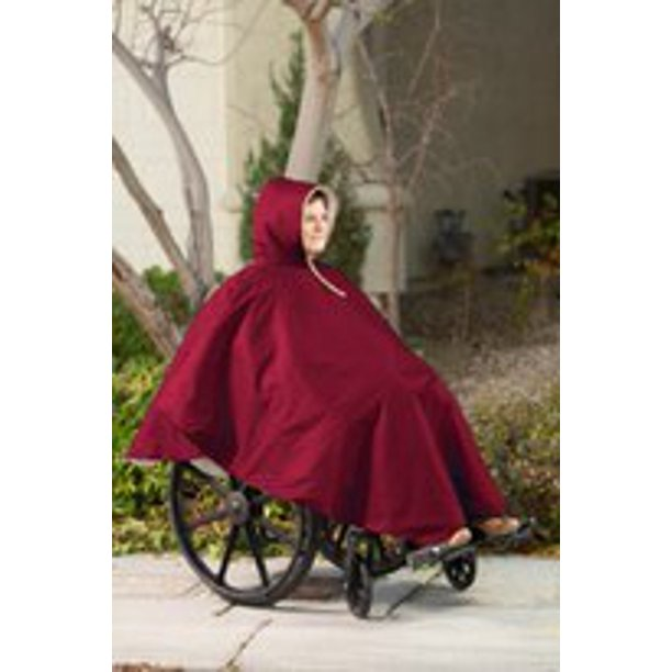 Comfort Finds Wheelchair Poncho (Single Pack,Burgundy)