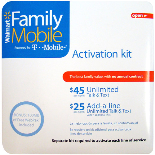 Family Mobile SIM Card & Activation Kit
