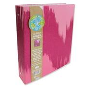 U Style Glitter Splash 3 Ring Paper Binder, Pink, 1.5 Inch