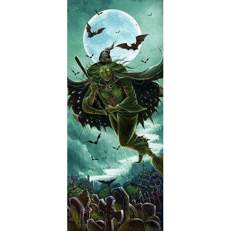Halloween Lights & Sounds Halloween Door Panel - Witch
