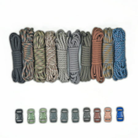 Paracord Planet 550lb Type III Paracord Combo Crafting Kits with Buckles](Paracord Bracelet Kit)