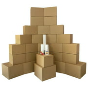 uBoxes Moving Boxes 2 Room Bigger Smart Moving Kit 28 Boxes ,Tape, & more