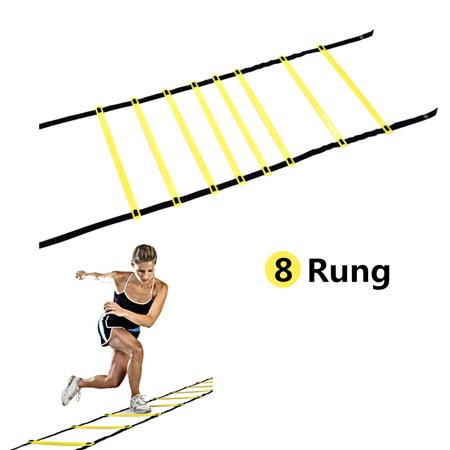 Mavis Laven 8 rung Agility Ladder Training Ladder Speed Training Ladder Workouts Power Equipment for Soccer Football Tennis Crossfit with Carry Bag