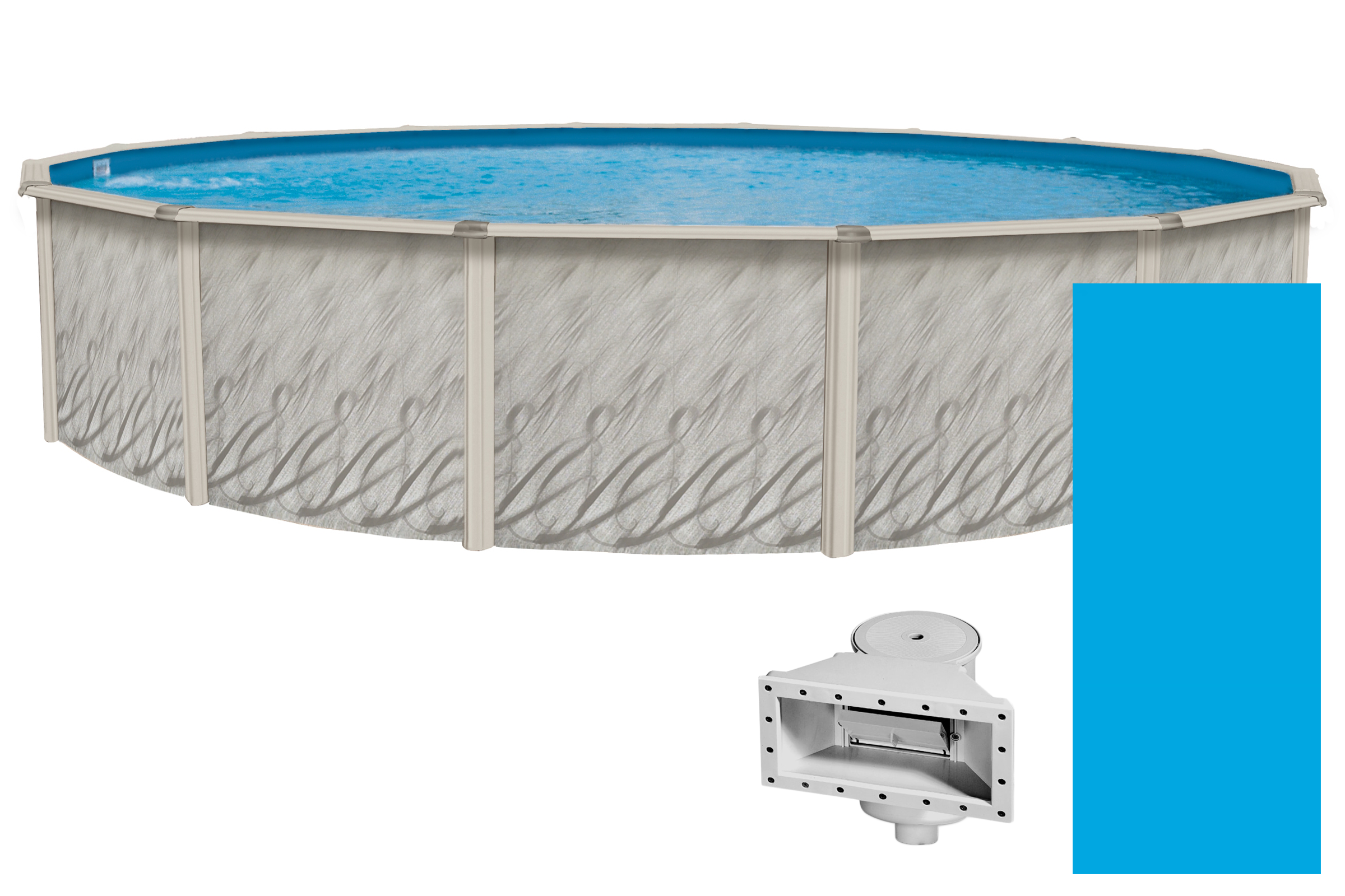 "Meadows Reprieve Round Above-Ground Swimming Pool | 52"" Height {Choose Size} by Wilbar"