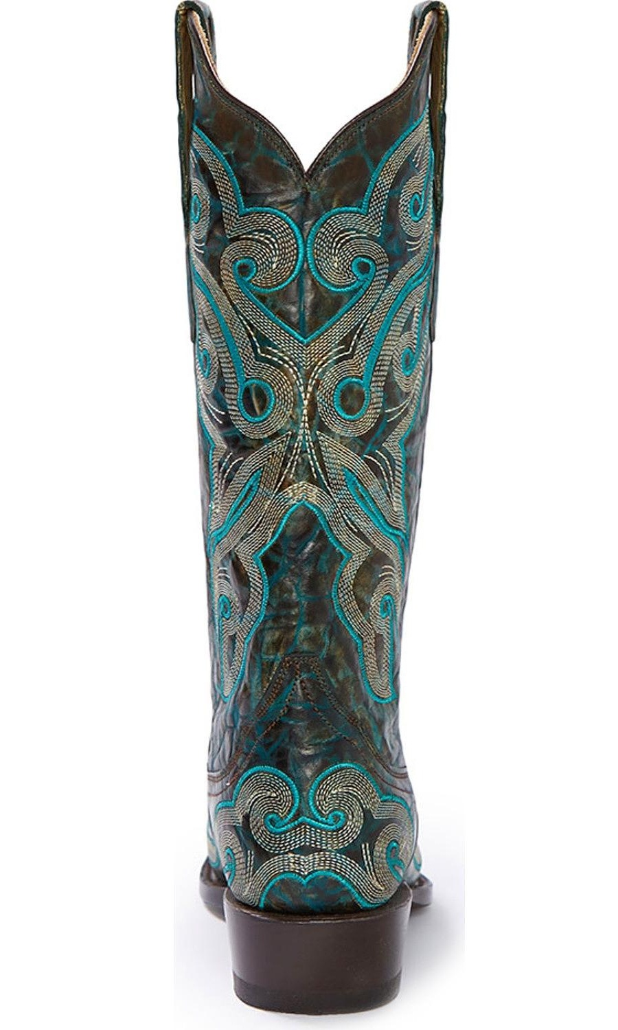 Stetson Western Boots Womens Marble Embroider 12-021-6105-0934 GR