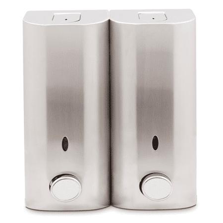 Zadro Locking Shower Stainless Steel Double Soap Dispenser
