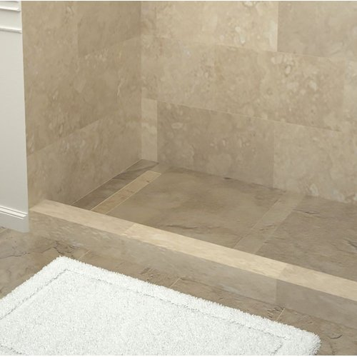 Tile Redi Plank Pitch Double Threshold Shower Base with Drain Top