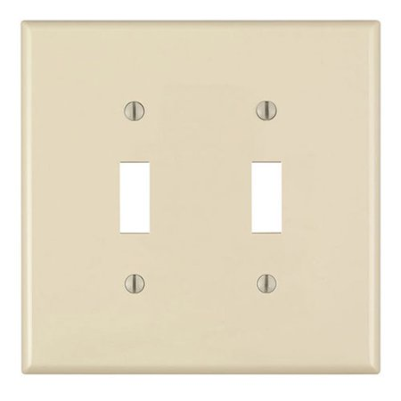 Leviton PJ2-A Almond Midway Nylon Two Gang Toggle Light Switch Wall Plate 2 Gang Switch Wall Plates