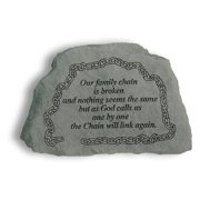 Our Family Chain Is Broken Memorial Accent Stone