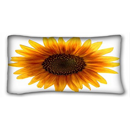 WinHome Decorative House Beatiful Sunflower Pillowcase Throw Pillow Cover Size 20x30 inches Two Side ()