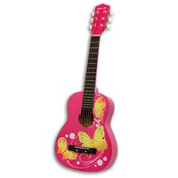 """Acoustic Toy Guitar Pink Butterfly, 30"""""""