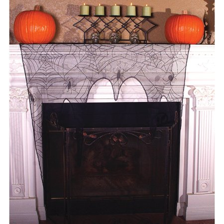 Lace Spider Web Topper Halloween Decoration