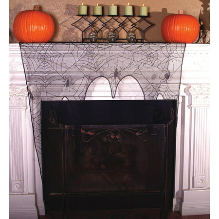 Lace Spider Web Topper Halloween Decoration](Spider Web Halloween Background)