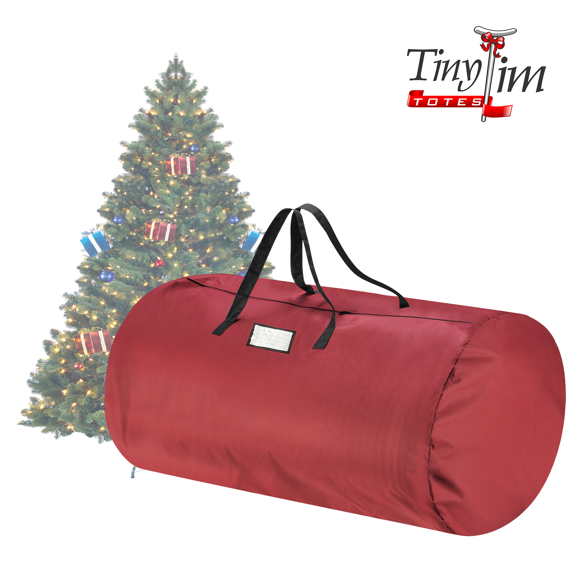 Tiny Tim Totes | Canvas Christmas Tree Storage Bag | Extra Large For 9 Foot Tree | Red