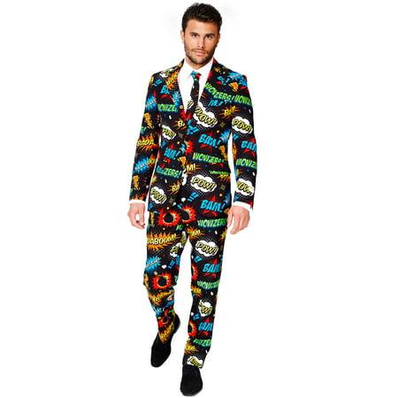 OppoSuits Men's Badaboom Comic Suit - Comic Suit