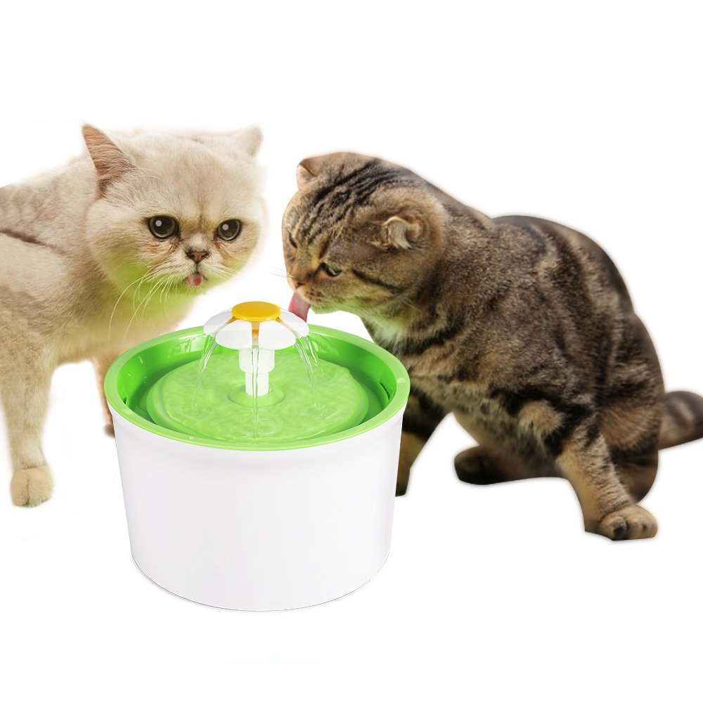 Pet Fountain Automatic Pet Water Dispenser, 1.6L / 56 Oz Free Cats ...