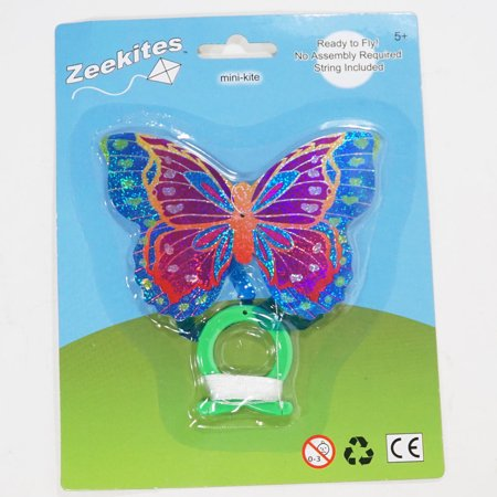 ZeeKites Mini Kite with Tail Ribbons! Ready to Fly!  (Butterfly 4.5''