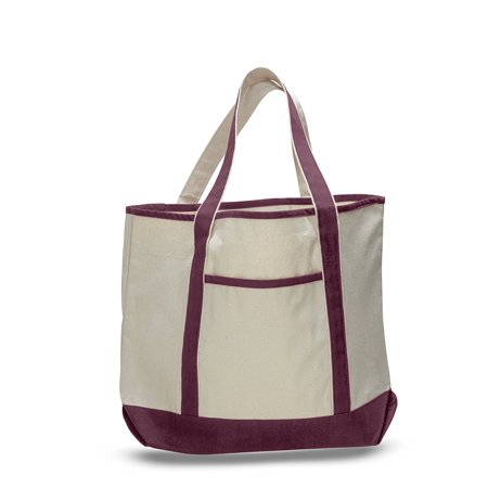 Tbf 22 Spacious Durable Large Canvas Tote Bag Wfront Pocket Pool