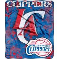 LA Clippers 50'' x 60'' Plush Throw Blanket
