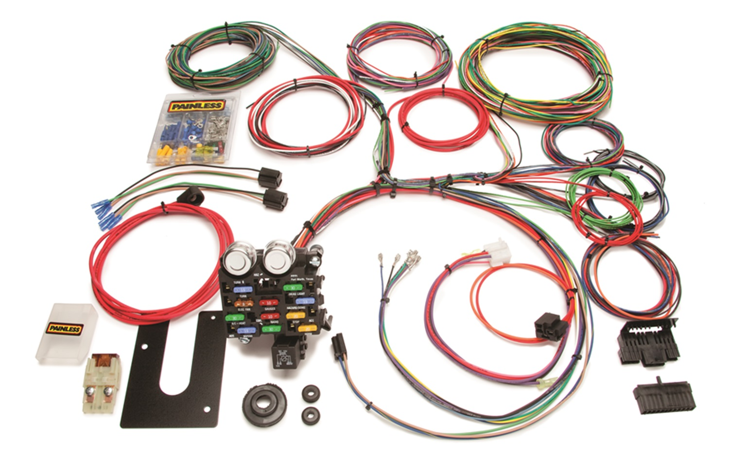 10206 Painless Wiring Fuse Block Electrical Diagrams 20101 Box Wrg Chassis Harness 44 18 Circuit Walmart Com Kits