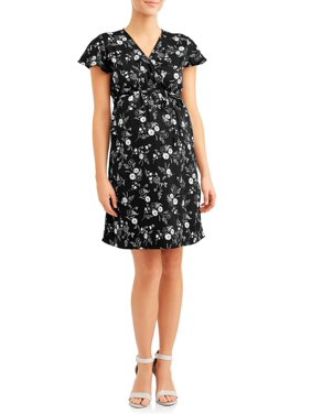 Oh! Mamma Maternity floral wrap dress - available in plus sizes