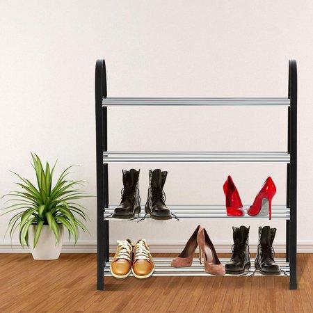 Yosoo Support à chaussures en plastique + métal en aluminium debout bricolage étagère de rangement pour la maison organisateur, étagère de rangement pour chaussures, étagère à chaussures en - image 6 de 6