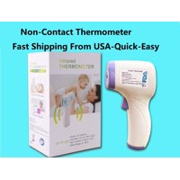 Contactless Infrared Forehead Thermometer for Baby and Adult, Quick Read with Fever Alarm Non contact thermometer