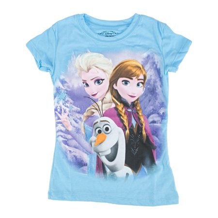 Disney Frozen Friends Forever Juniors Blue T-Shirt | S - Frozen Forever