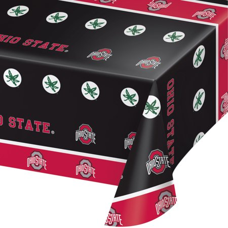 Ohio State University Plastic Tablecloths, 3 Count ()