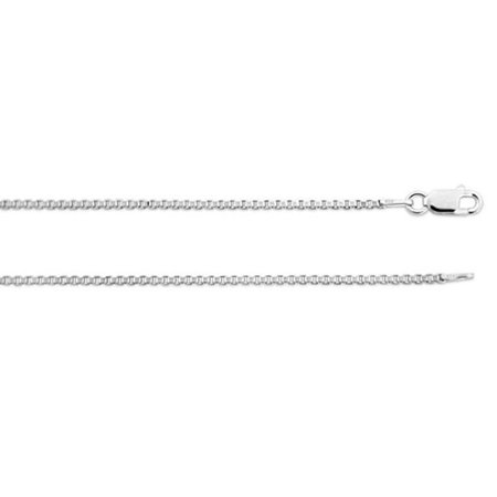"ZilverZoom Sterling Silver .925 Box Necklace Chain 1.6mm 22"" inches.  Made in Italy"