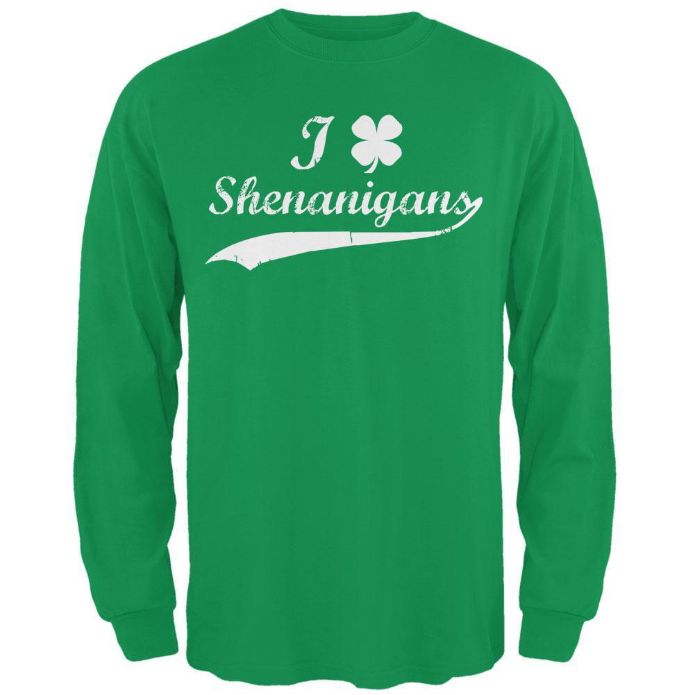 8b8f52947 Holiday - St Patricks Day Shamrock Shenanigans Irish Green Adult Long  Sleeve T-Shirt - Walmart.com