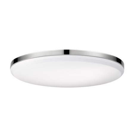 Globe Electric 28 Watt Ellington 28-Watt Chrome Integrated Ceiling Flush Mount